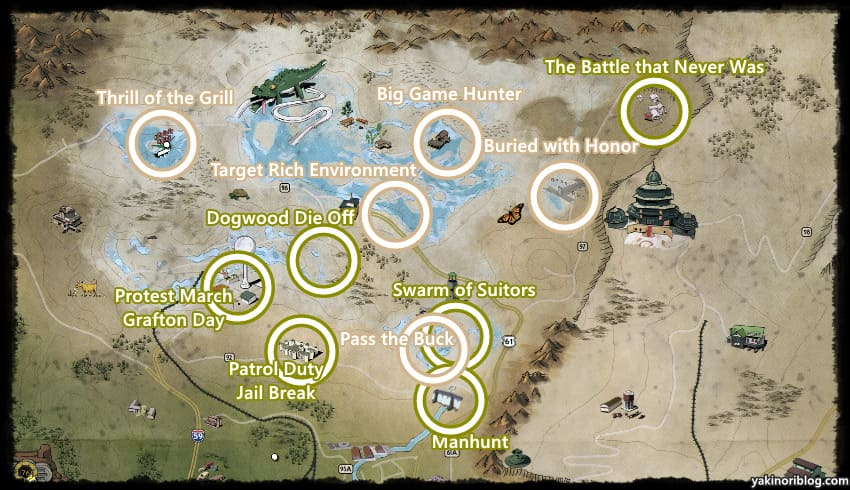 毒の峡谷クエストマップ