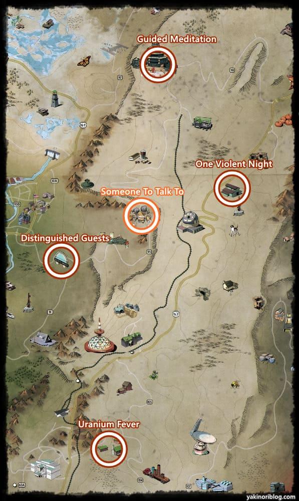 荒れた境域クエストマップ