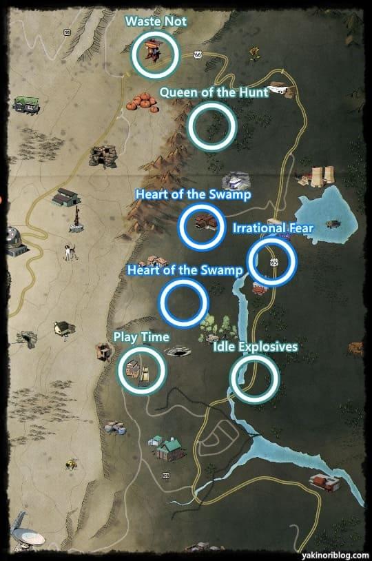 沼地地帯クエストマップ